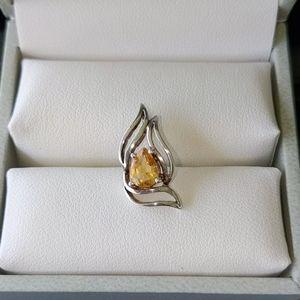 Jewelry - Genuine Citrine Pendant in 925 SS
